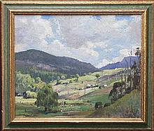 John Salvana (1873 - 1956) - Green Valley Farm 34 x 44cm