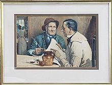 Walter Jenks Morgan (1847 - 1924) - Conversation 29 x 44.5cm
