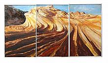Alesandro Ljubicic (XX -) - Vermilion Cliffs, Arizona 167.5 x 101cm each