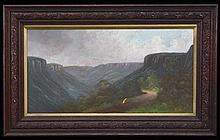 J Hutchings (2 works) - Blue Mountains Scenes 31 x 62cm each