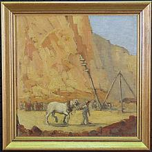 Dixon Copes (1914 -) - Quarry Scene 38 x 38cm
