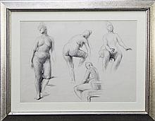 Artist Unknown - Nude Study 37 x 52cm