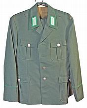 East German NCO Border Guard Uniform & a East German Infantry Helmet