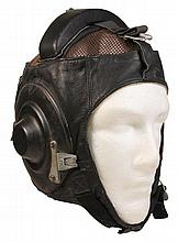 Russian Leather Summer Pilot's Flying Helmet & a Russian Beret