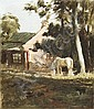 LLOYD REES (1895-1988) - Cottage at May's Hill, Parramatta c1924 oil on canvas on board