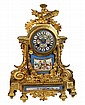 Japy Frère Gilt & Porcelain Mantle Clock