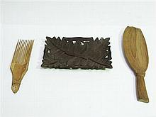 Tribal Hair Comb, Spoon, Tray