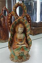 Sancai Glazed Buddha