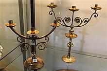 2 Small 3 Branch Candelabra