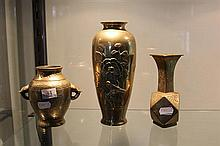 3 Chinese Brass Vases