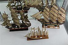 3 Model Boats incl The Cutty Sark