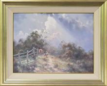 Ramon Ward Thompson (1941 -) - Passing Showers, Burradoo, NSW 45 x 60.5cm