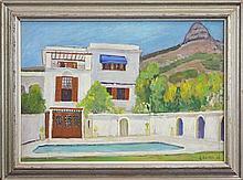 Cecil Kenneth Baker (1931 - 1996) - Backyard Pool, District Six, Cape Town, 1979 41 x 58cm