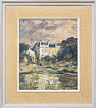 George Feather Lawrence (1901 - 1981) - White House, England 29 x 24cm
