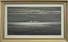 Peter Fennell (1949 - ) - Outback Evening 46 x 86cm