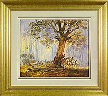 D'Arcy W. Doyle (1932 - 2001) - Untitled (Logging) 50 x 60cm
