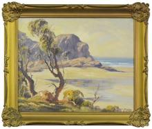 R. Parsons (1918 - 2011) - Headland Beach, Batemans Bay 37 x 44cm