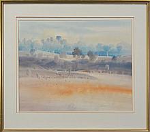 Brian Stratton (1936 - ) - Country Landscape 49 x 63cm