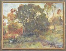 Collingwood (XIX - XX) - Day's End, Bush Landscape 54 x 73cm