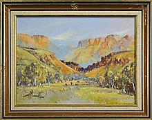 Henry McLaughlin (1937 - ) - Cattle In Wittenoom, W.A. 29 x 40cm