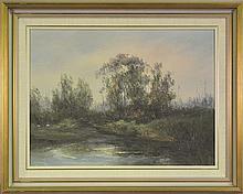 Wim Kortland (1923 - ) - Sunset Near Porepunkah, Ovens Valley 44 x 59cm