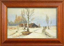Russian School (XX) - Winter Scene, 1932 31 x 53cm