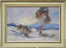 Allan Hansen (1911 - 2000) - Langlaugh Country 30 x 46cm
