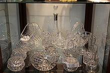 Crystal Basket with Other Crystal & Glass Wares