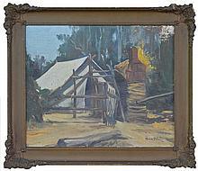 Mick Paul ( working c.1907-1929) - The Camp, 1922 24.5 x 29.5cm
