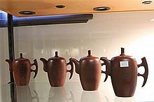 Zisha Set of 4 Teapots