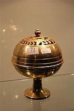 Chinese Brass Lidded Censer