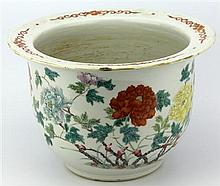 Famille Rose Flowes Painting Flower Pot