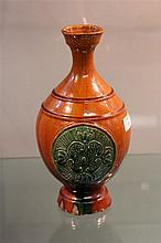 Sancai Glazed Baluster Shaped Vase