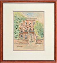 John William Cataldo (1924 - ) - Nathaniel Russell House, Charleston, S.C. 26.5 x 20cm