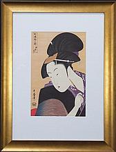 Kitagawa Utamaro (1753 - 1806) - Geisha 46 x 30cm