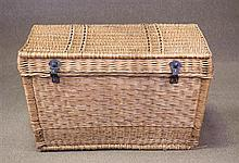 A Large Vintage Wicker Picnic Hamper