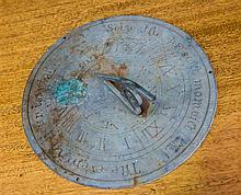 An antique bronze sundial