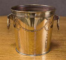 Large Edwardian plated Jardinière with garland loop handles. C. 1900