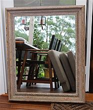 Rectangular mirror with rustic timber frame 72 x 92cm