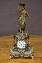 C19th French figural mantel clock