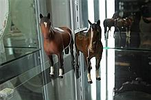 Beswick Bisque Horse & Another Beswick Horse