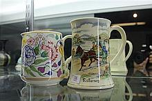 Poole Hand Painted Jug and Crown Devon Fiedings Musical Killarney Mug (not working)