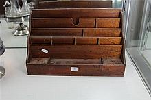Late 19th Century Cedar Letter Rack