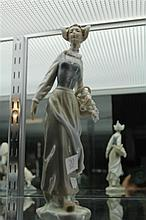 Lladro Figure of Girl w/ Flowers