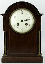 Japy Frères Inlaid Mantle Clock