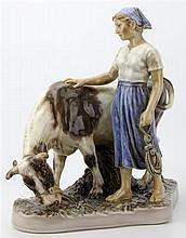Dahl Jensen Copenhagen 'Girl with Cow'