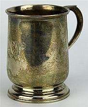 English Hallmarked Sterling Silver Edward VII Christening Mug