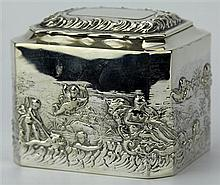 English Hallmarked Sterling Silver Victorian Lidded Container