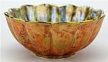 Wedgwood 'Orange Butterflies' Lustre Bowl