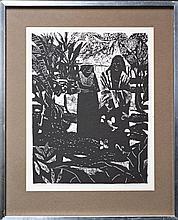 Ray Austin Crooke (1922 - ) - Tahiti II 36 x 27.5cm